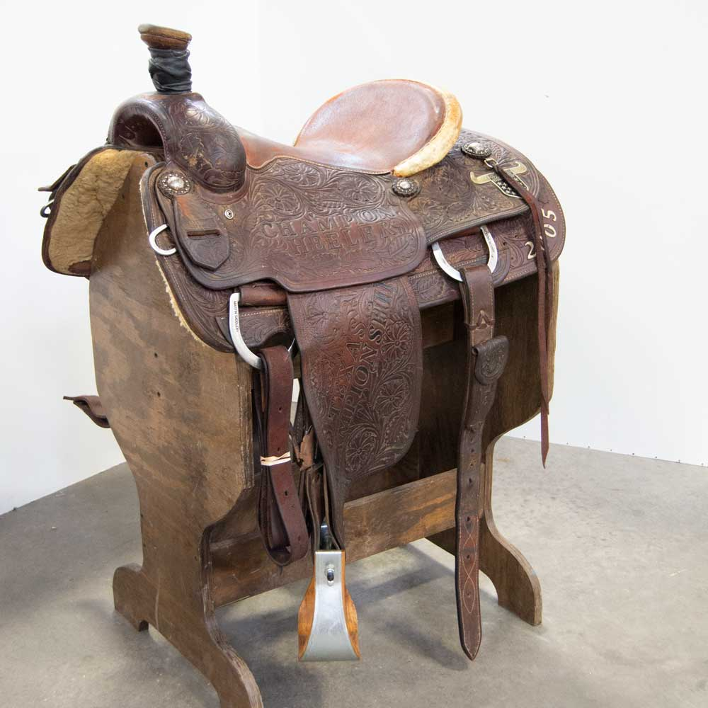 "14.5"" USED MARTIN ROPING SADDLE Saddles - Used Saddles - ROPER Martin Saddlery Teskeys"