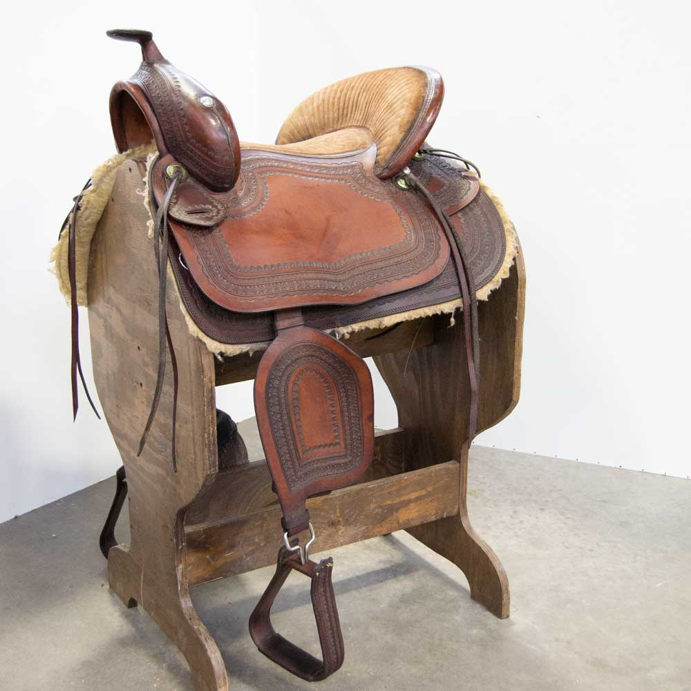 "14"" USED RAIN TREE PASO FINO SADDLE Saddles - Used Saddles - ALL AROUND Rain Tree Teskeys"