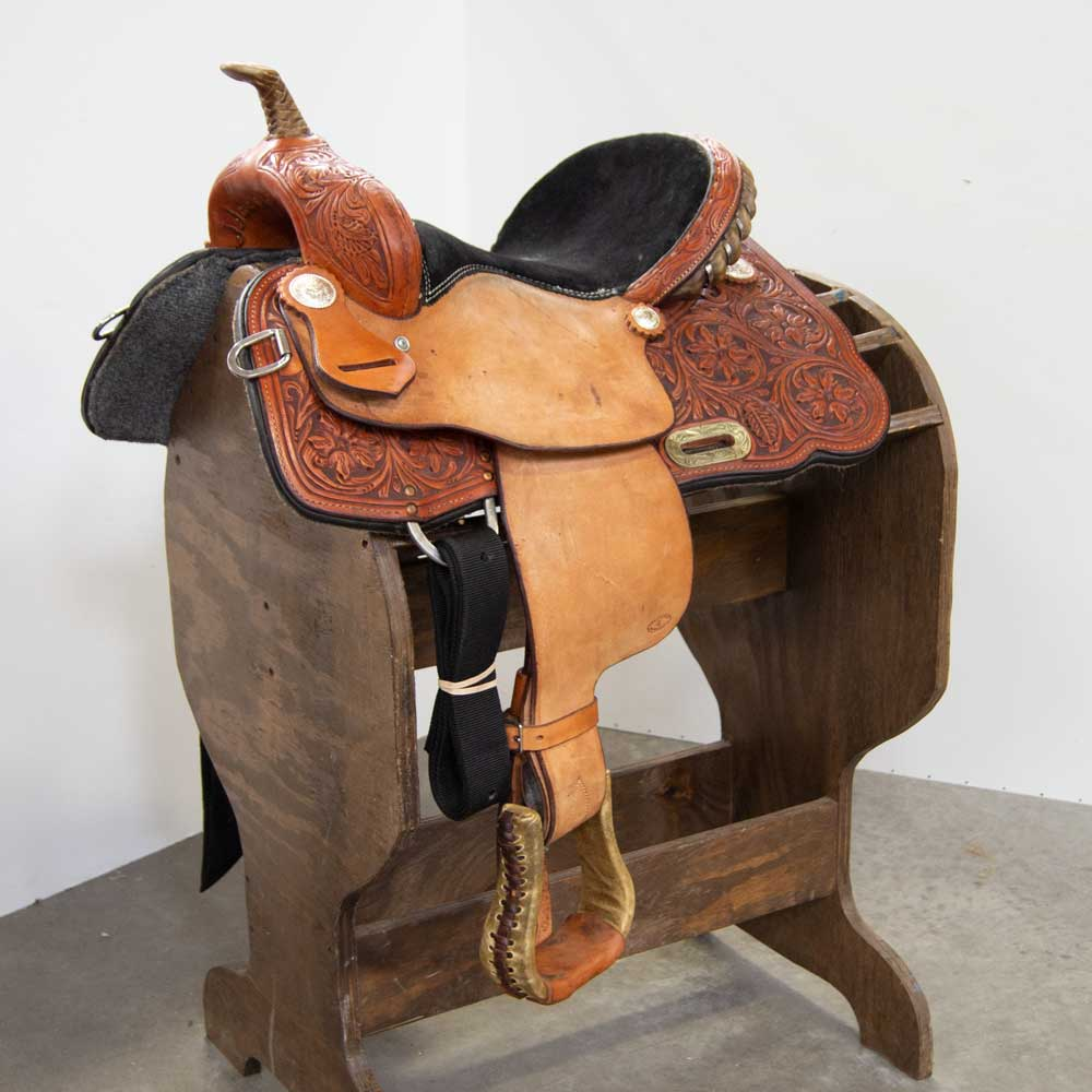 "13"" USED 4T BARREL SADDLE Saddles - Used Saddles - BARREL 4T Saddles Teskeys"