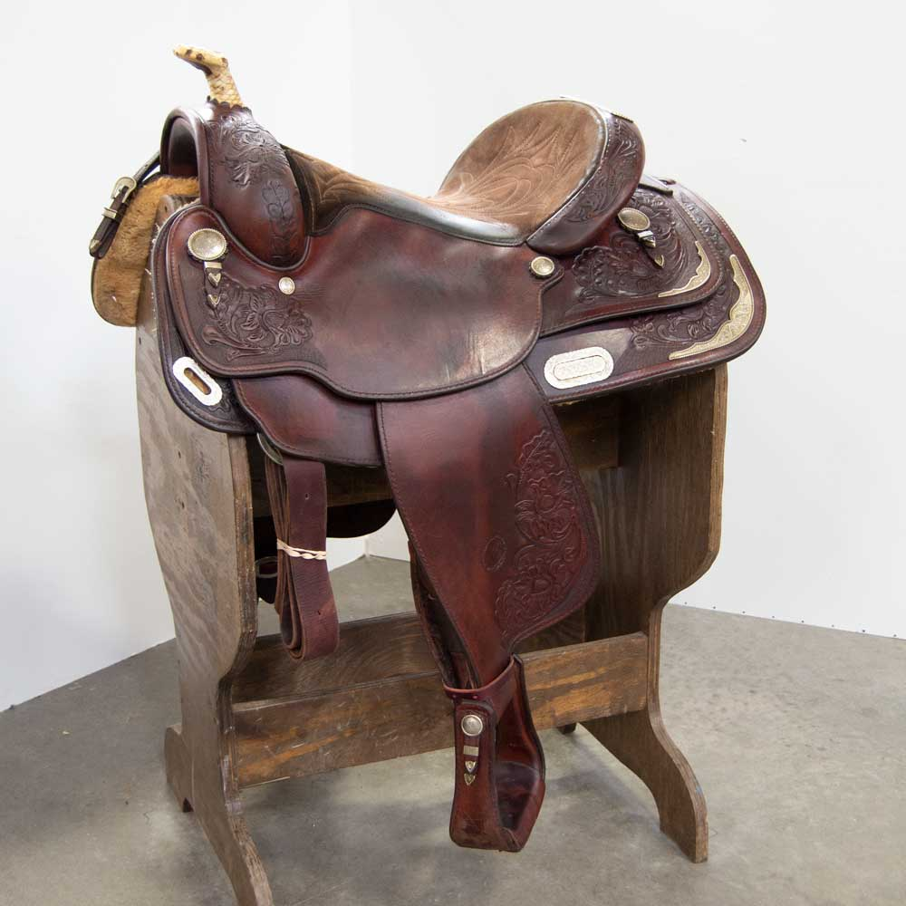 "15.5"" USED CIRCLE Y SHOW SADDLE"