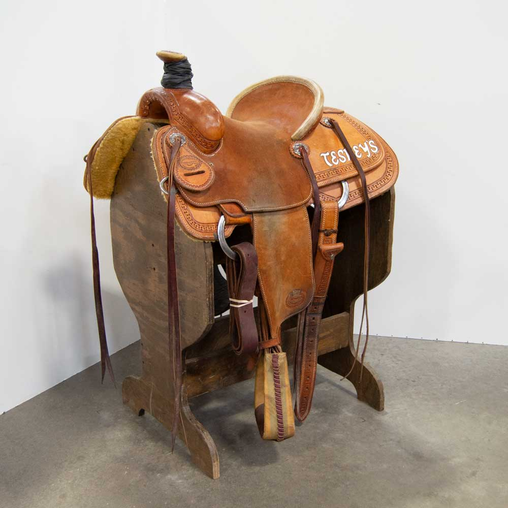 "13"" USED TESKEY'S ROPING SADDLE"
