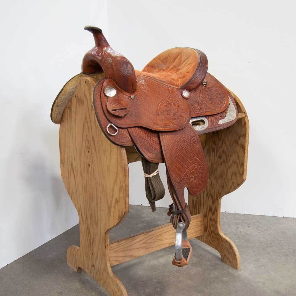 "12.5"" USED THE AMERICANS BARREL SADDLE"