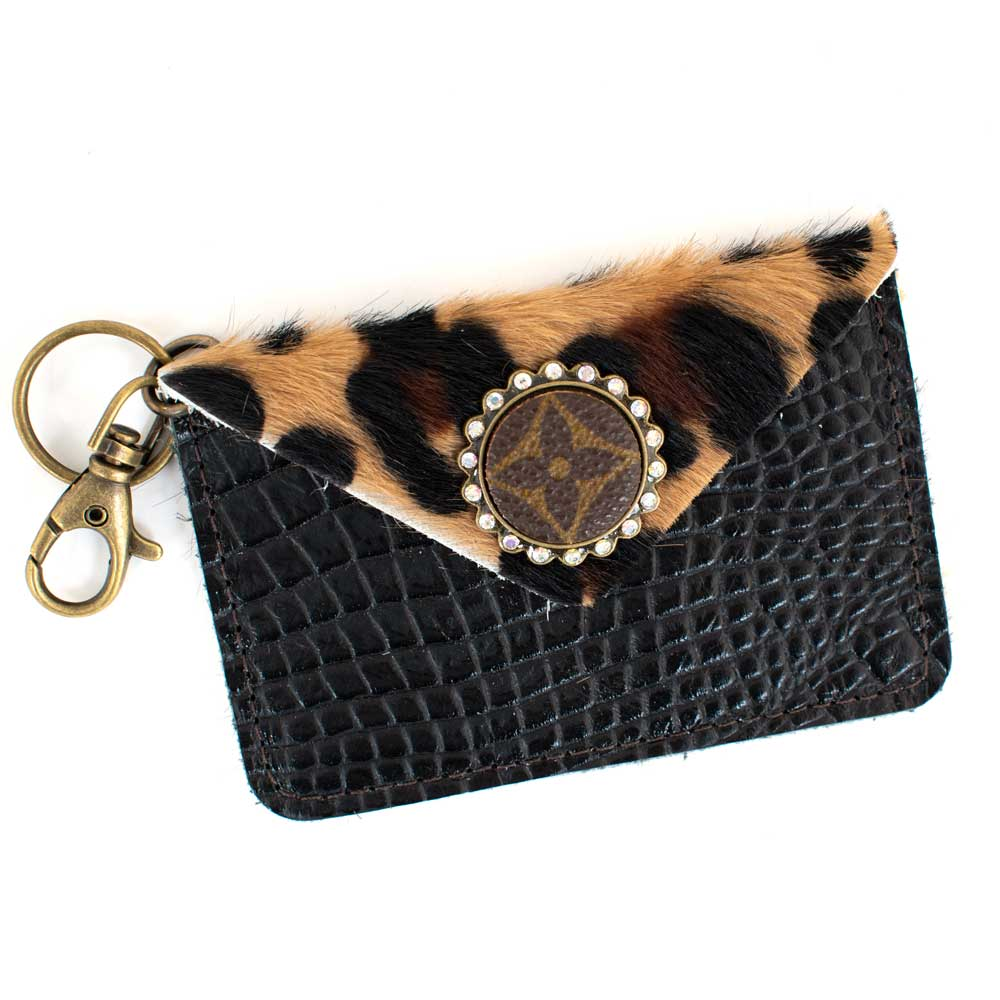 LV Leopard Leather Card Keychain WOMEN - Accessories - Handbags - Wallets SANDRA LING DESIGNS Teskeys