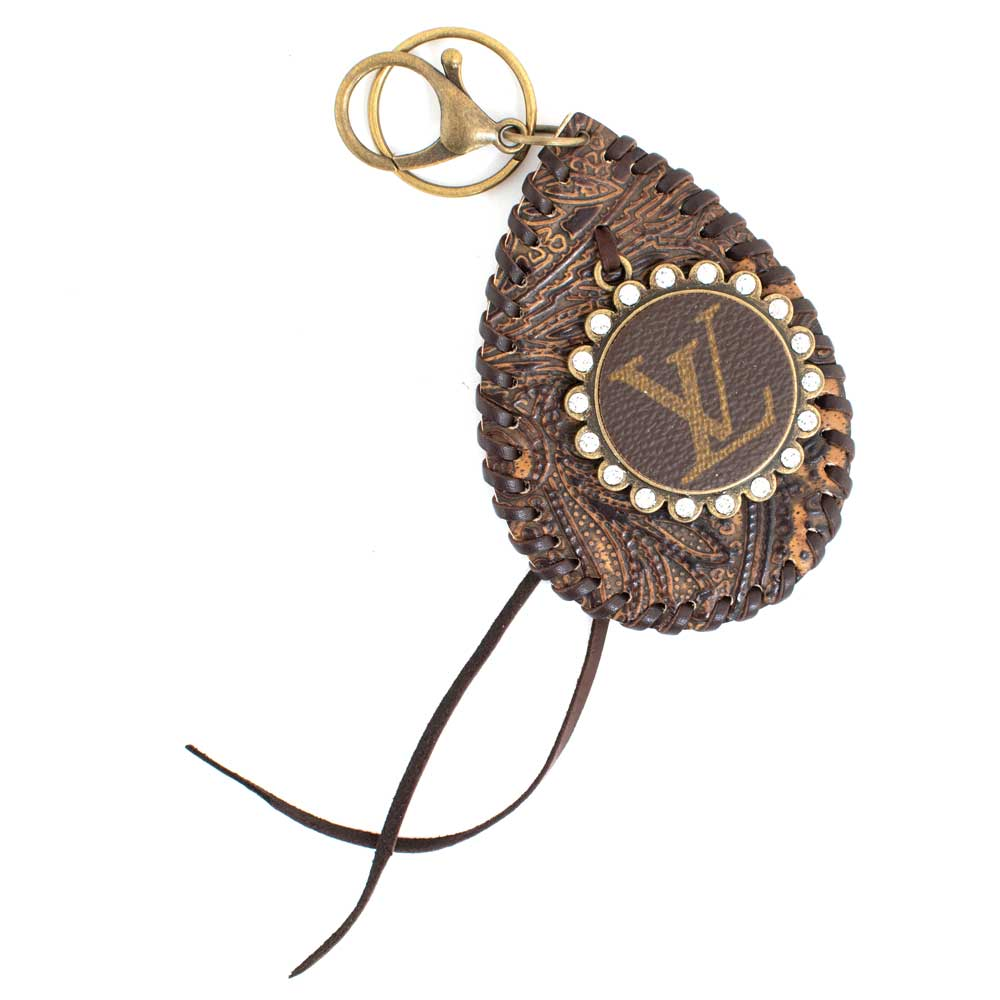 LV Tooled Teardrop Keyring WOMEN - Accessories - Small Accessories SANDRA LING DESIGNS Teskeys
