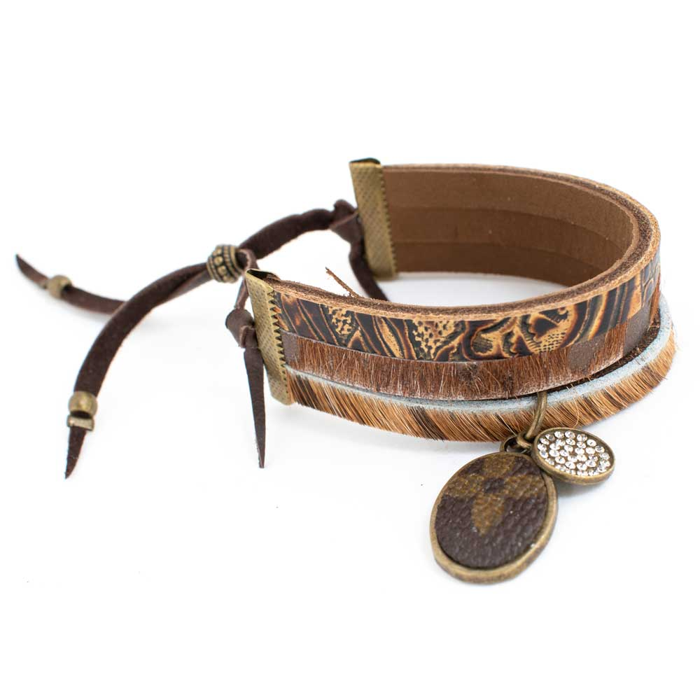 LV 3 Strap Leather Cuff WOMEN - Accessories - Jewelry - Bracelets SANDRA LING DESIGNS Teskeys