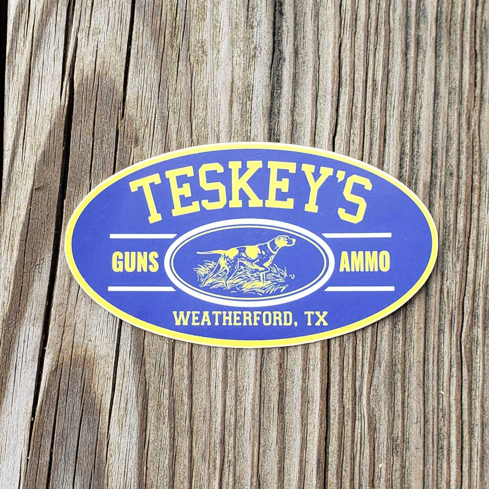 Teskey's G&A Pointer Oval Vinyl Sticker TESKEY'S GEAR - Stickers Sticker Mule Teskeys