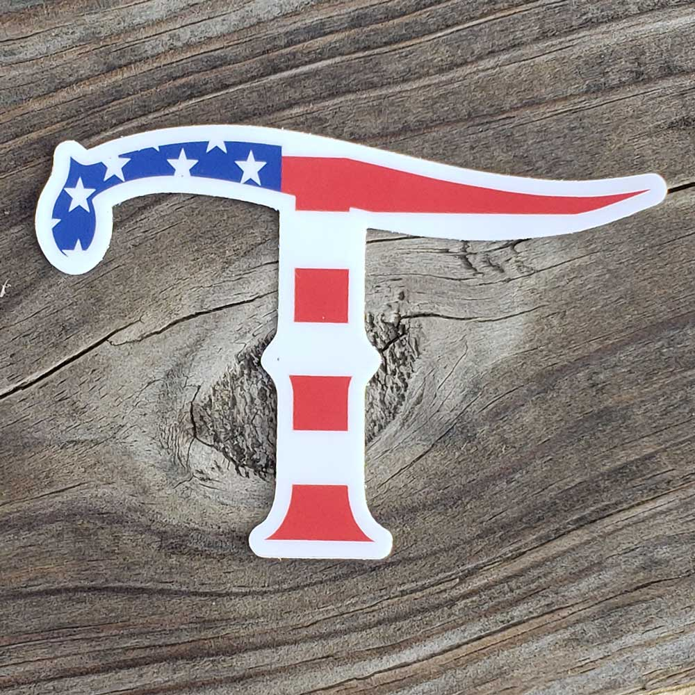 Teskey's Small American T Logo Vinyl Die-Cut Sticker TESKEY'S GEAR - Stickers Sticker Mule Teskeys