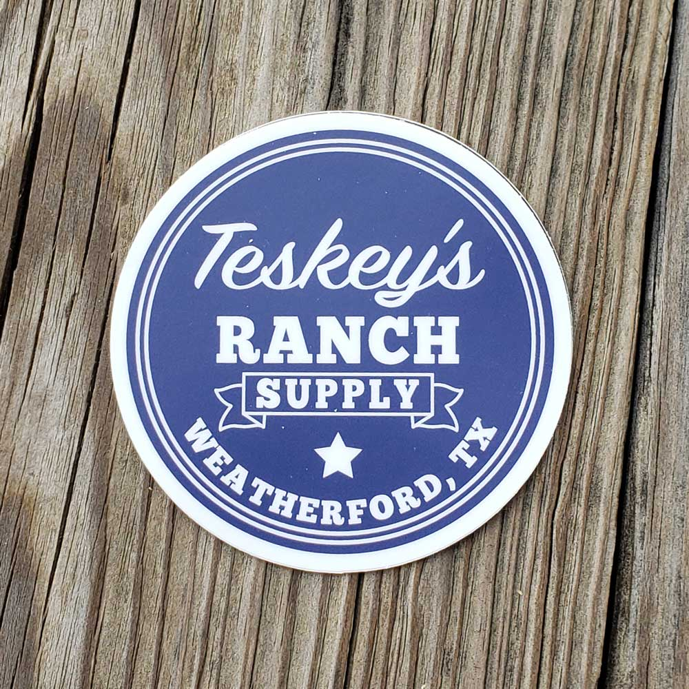 Teskey's Ranch Supply Round Vinyl Sticker TESKEY'S GEAR - Stickers Sticker Mule Teskeys