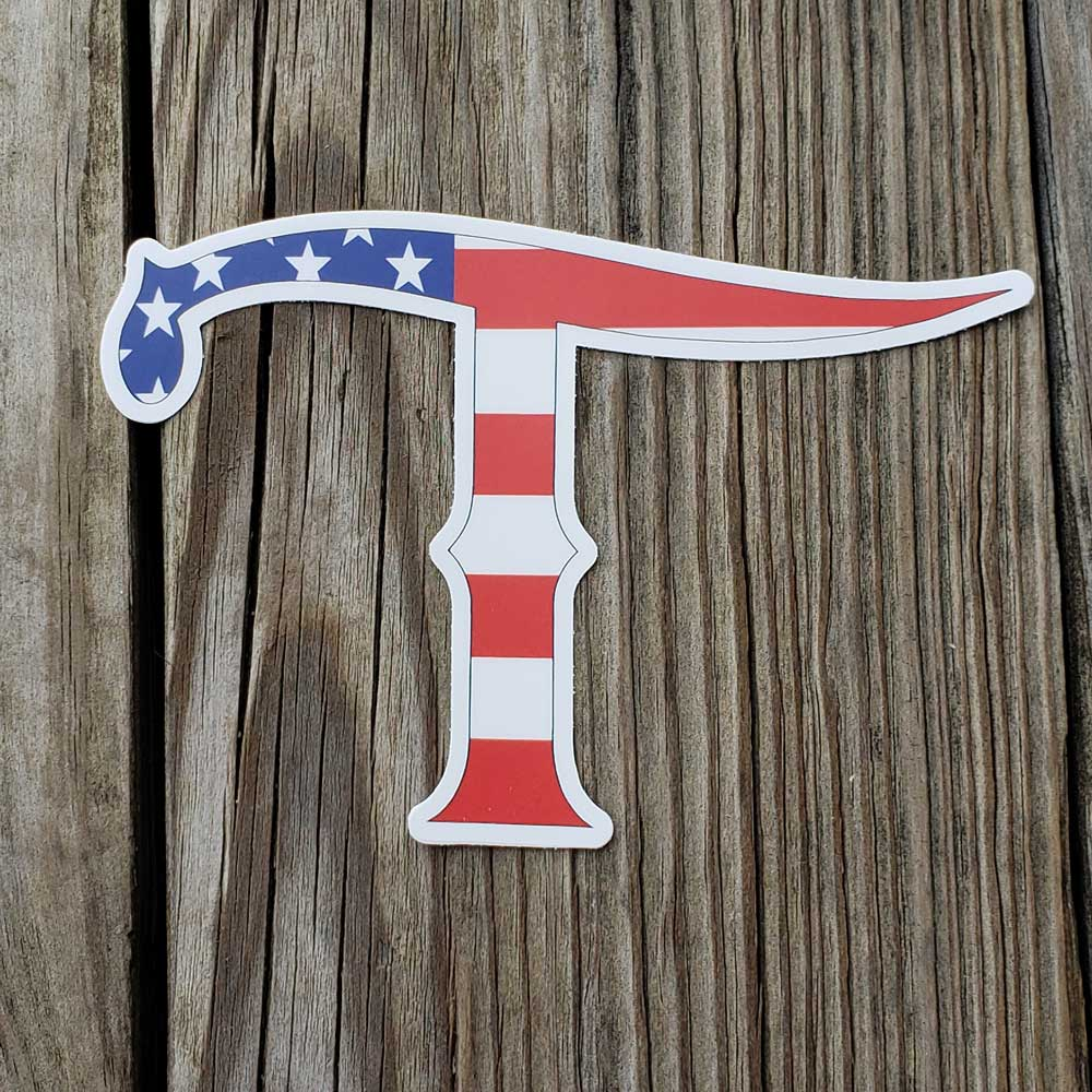 Teskey's Large American T Logo Die-Cut Vinyl Sticker TESKEY'S GEAR - Stickers Sticker Mule Teskeys