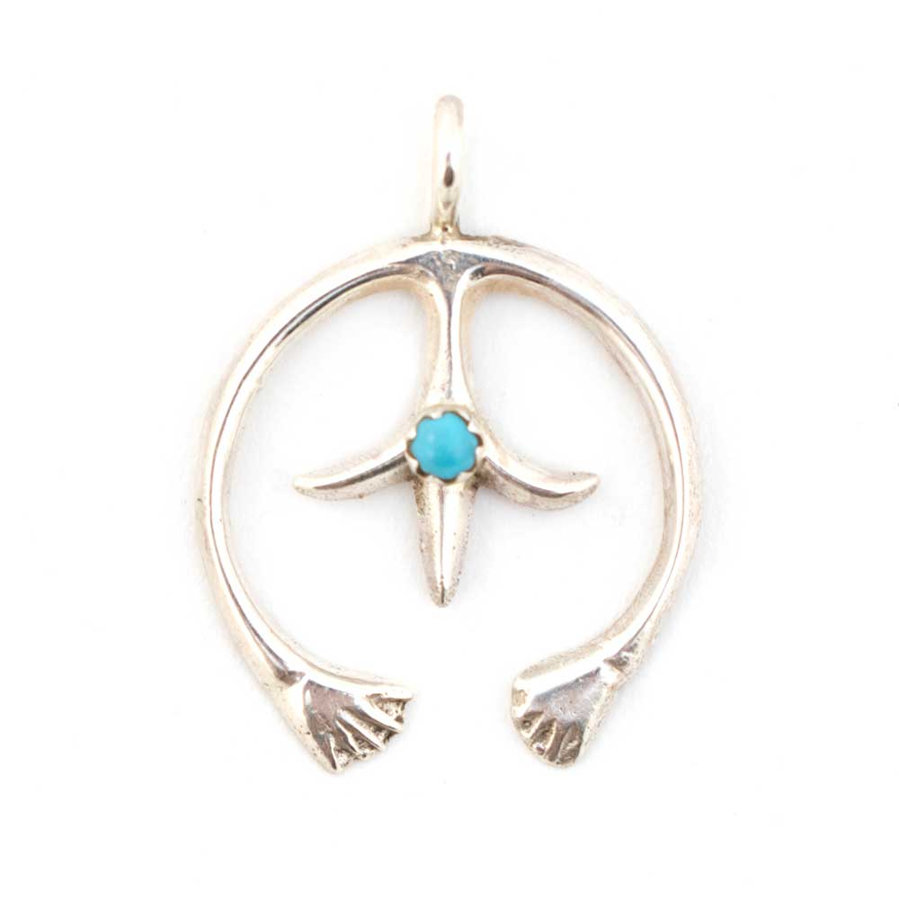 Small Sterling Naja Pendant with Turquoise WOMEN - Accessories - Jewelry - Pendants SUNWEST SILVER Teskeys