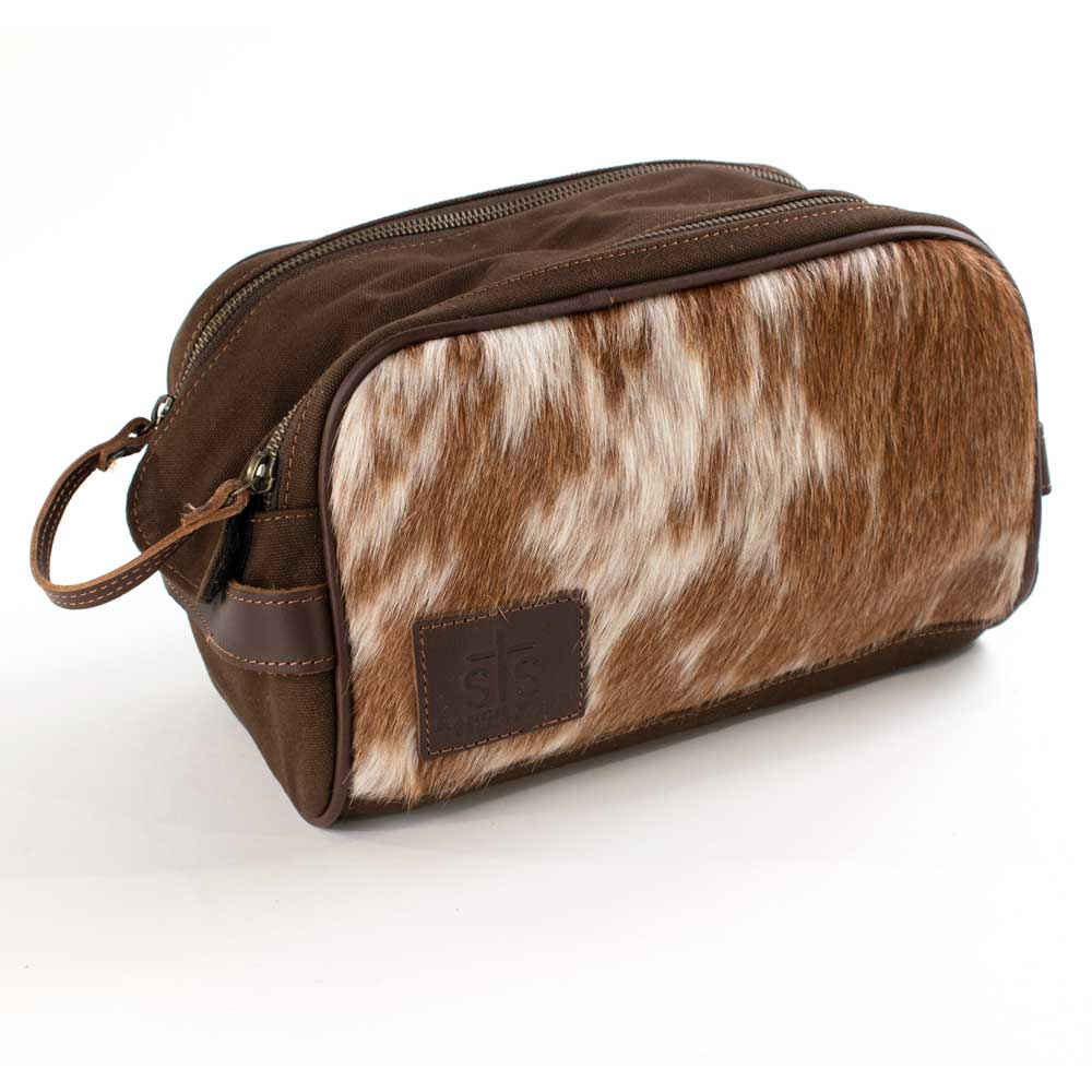 STS Ranchwear Cowhide Men's Toiletry Bag ACCESSORIES - Luggage & Travel - Shave Kits STS Ranchwear Teskeys