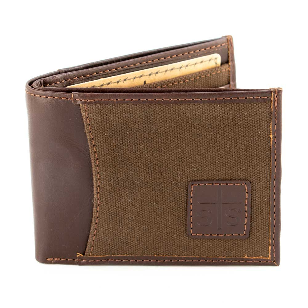 STS Ranchwear Chocolate Canvas Bifold II MEN - Accessories - Wallets & Money Clips STS Ranchwear Teskeys