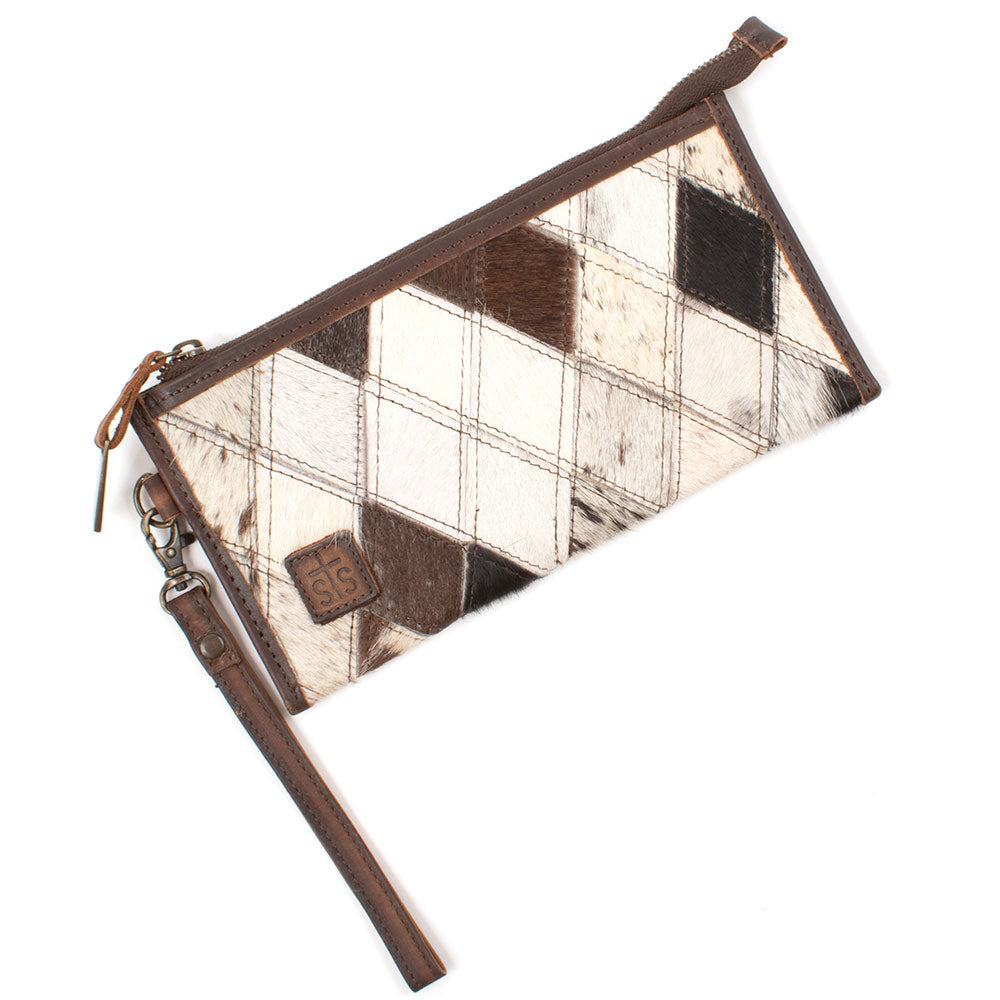 STS Ranchwear Diamond Cowhide Clutch WOMEN - Accessories - Handbags - Clutches & Pouches STS Ranchwear Teskeys
