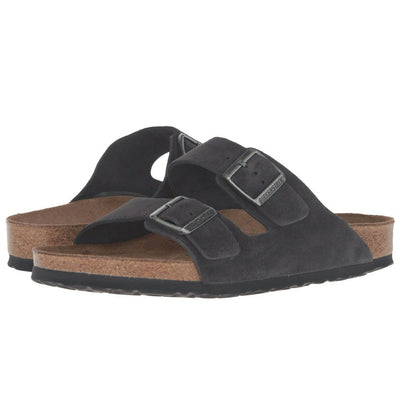 Birkenstock Arizona Soft Bed Velvet Grey WOMEN - Footwear - Sandals & Flip Flops BIRKENSTOCK Teskeys