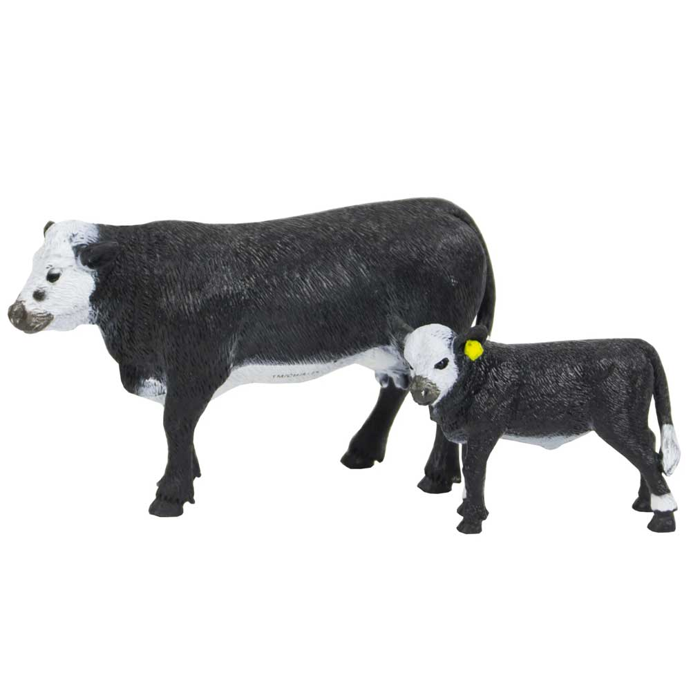 Big Country Black Baldy Cow & Calf Farm & Ranch - Toys and DVDs Big Country Toys Teskeys