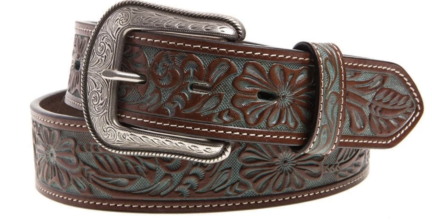 Hand Tooled Floral Belt WOMEN - Accessories - Belts M&F WESTERN PRODUCTS Teskeys