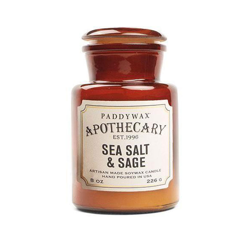 Apothecary 8oz Candle - Sea Salt & Sage HOME & GIFTS - Home Decor - Candles + Diffusers Paddywax Teskeys