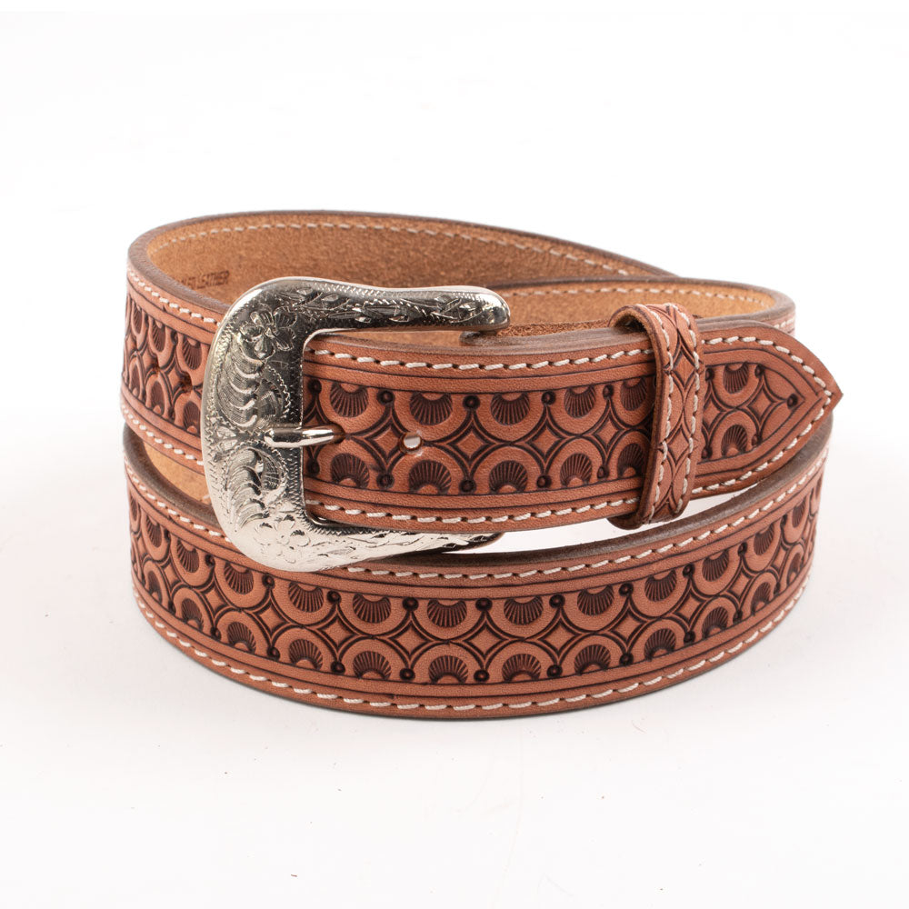 Kids Leather Sunburst Hand-Tooled Belt KIDS - Accessories - Belts Beddo Mountain Leather Goods Teskeys