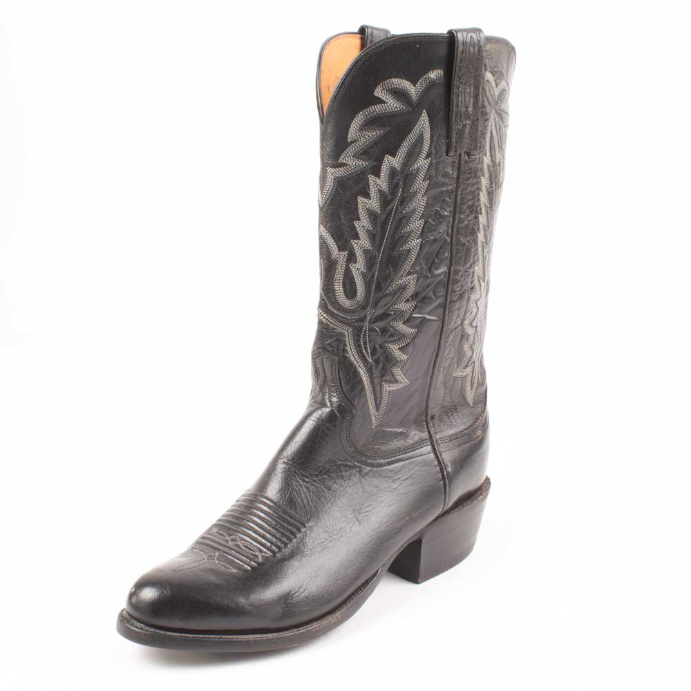 Lucchese Black Men's Boots - Size 8.5EE - FINAL SALE MEN - Footwear - Exotic Western Boots LUCCHESE BOOT CO. Teskeys