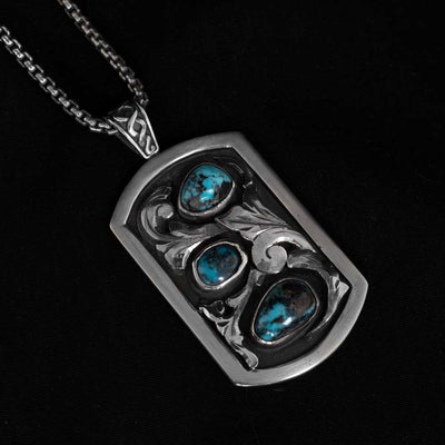 Comstock Heritage Turquoise and 3D Scrolls Necklace WOMEN - Accessories - Jewelry - Necklaces COMSTOCK HERITAGE Teskeys