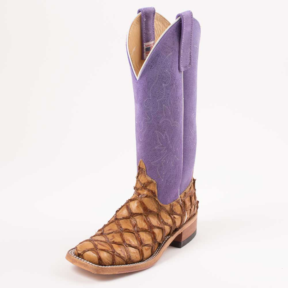 Teskey's Big Bass Purple Sinsation Boot WOMEN - Footwear - Boots - Exotic Boots ANDERSON BEAN BOOT CO. Teskeys