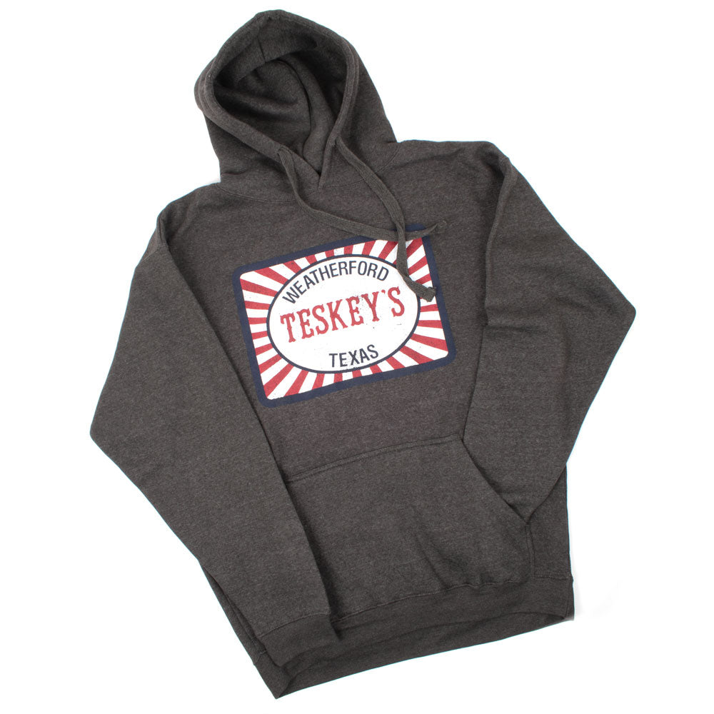 Teskey's Feedsack Hoodie - Graphite TESKEY'S GEAR - Hoodies OURAY SPORTSWEAR Teskeys