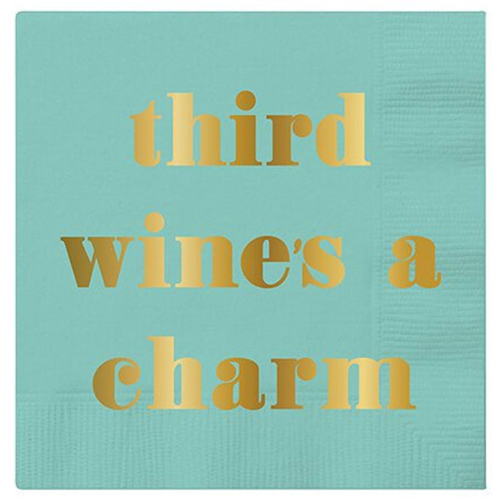 Third Wine's a Charm Beverage Napkins - 20 ct HOME & GIFTS - Tabletop + Kitchen CREATIVE BRANDS Teskeys