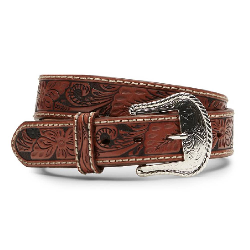Tony Lama Hand Tooled Floral Belt MEN - Accessories - Belts & Suspenders LEEGIN CREATIVE LEATHER/BRIGHTON Teskeys