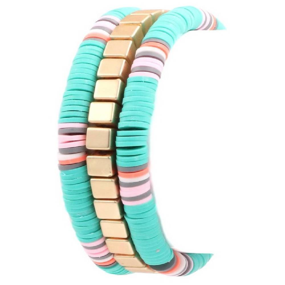 Turquoise Rubber Disc Bracelet WOMEN - Accessories - Jewelry - Bracelets ARTBOX JEWEL Teskeys