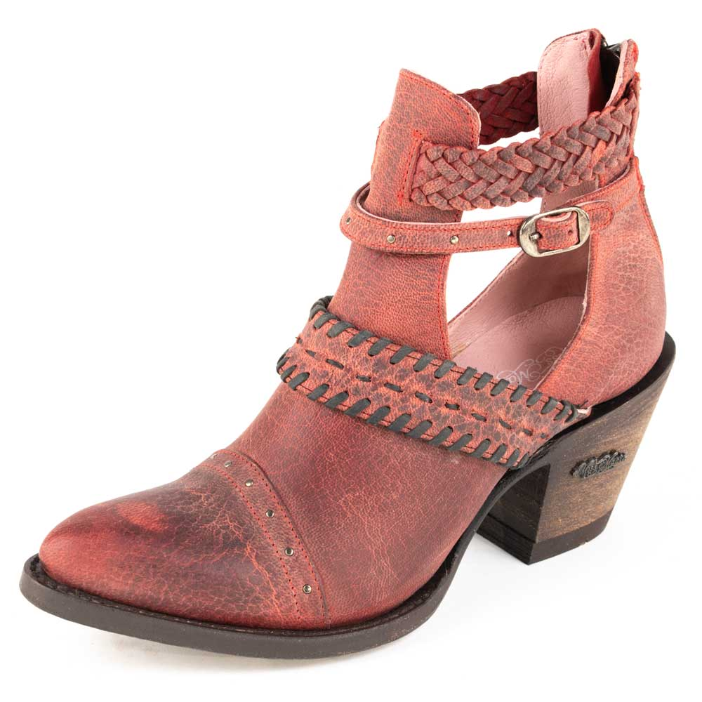 Miss Macie I Dare You Red Bootie WOMEN - Footwear - Boots - Booties MISS MACIE Teskeys