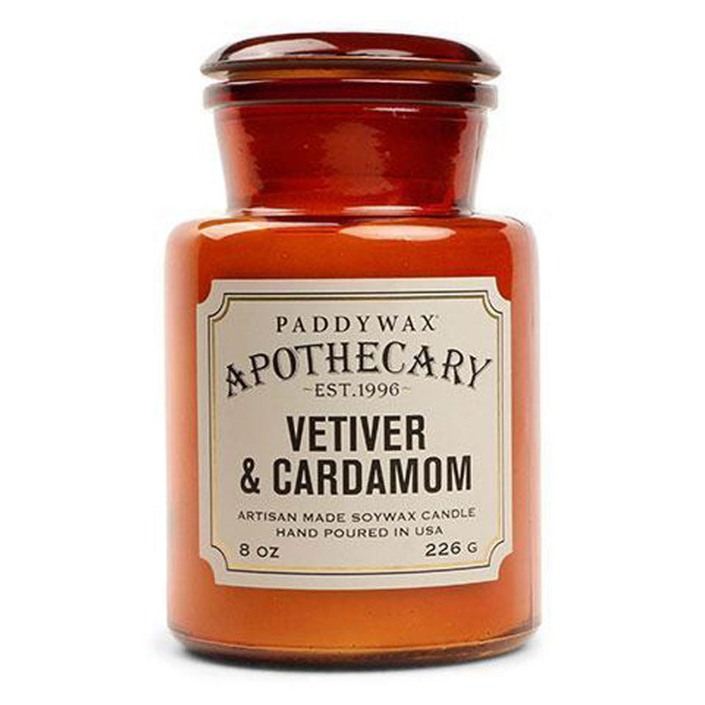Apothecary 8oz Candle - Vetiver & Cardamom HOME & GIFTS - Home Decor - Candles + Diffusers Paddywax Teskeys