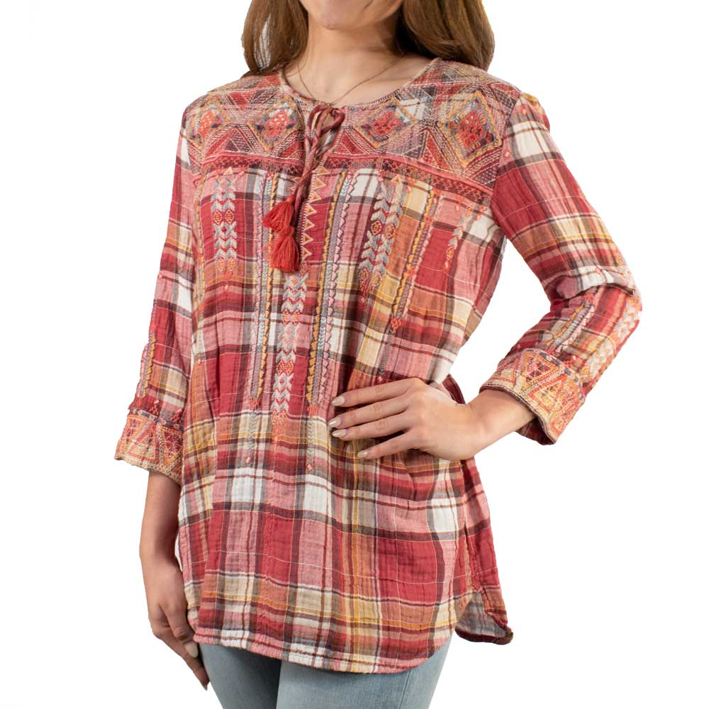 Johnny Was Thora Nomad Blouse WOMEN - Clothing - Tops - Tunics JOHNNY WAS COLLECTION Teskeys