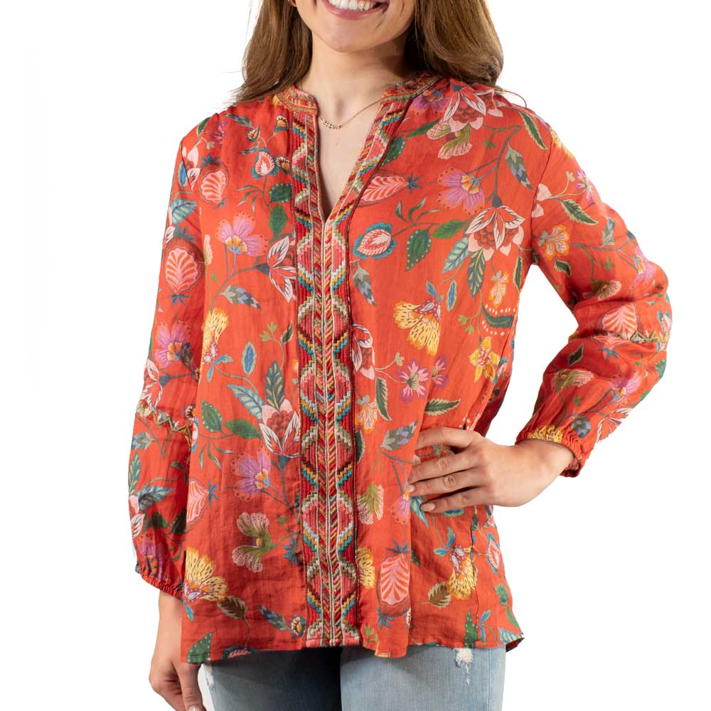 Johnny Was Paris Effortless Blouse WOMEN - Clothing - Tops - Tunics JOHNNY WAS COLLECTION Teskeys