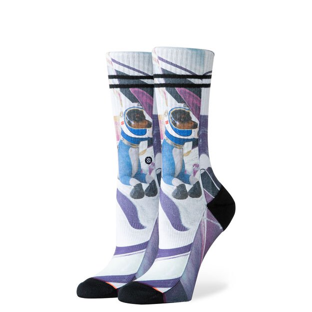 Stance Astrodog Crew Sock WOMEN - Clothing - Intimates & Hosiery STANCE Teskeys