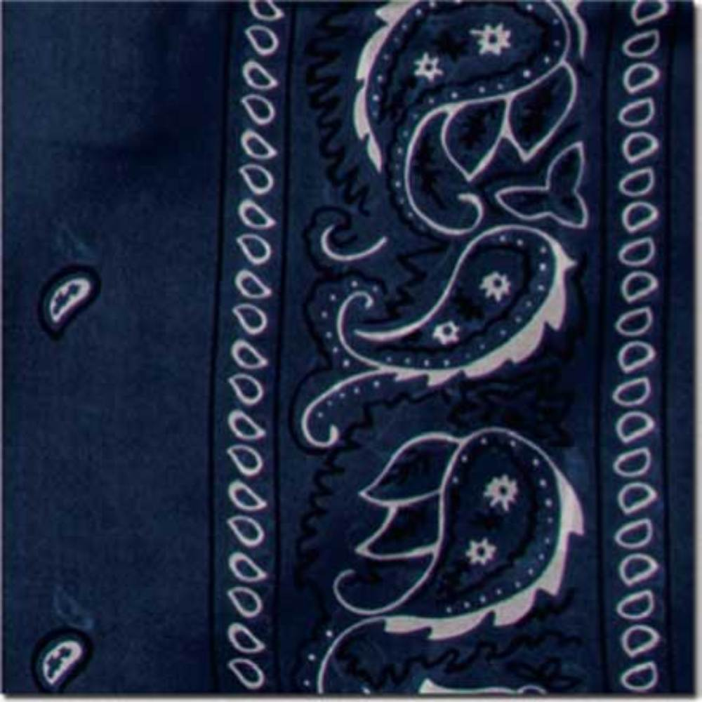"20"" Bandana Silk Wild Rag - Navy ACCESSORIES - Additional Accessories - Wild Rags & Scarves WYOMING TRADERS Teskeys"