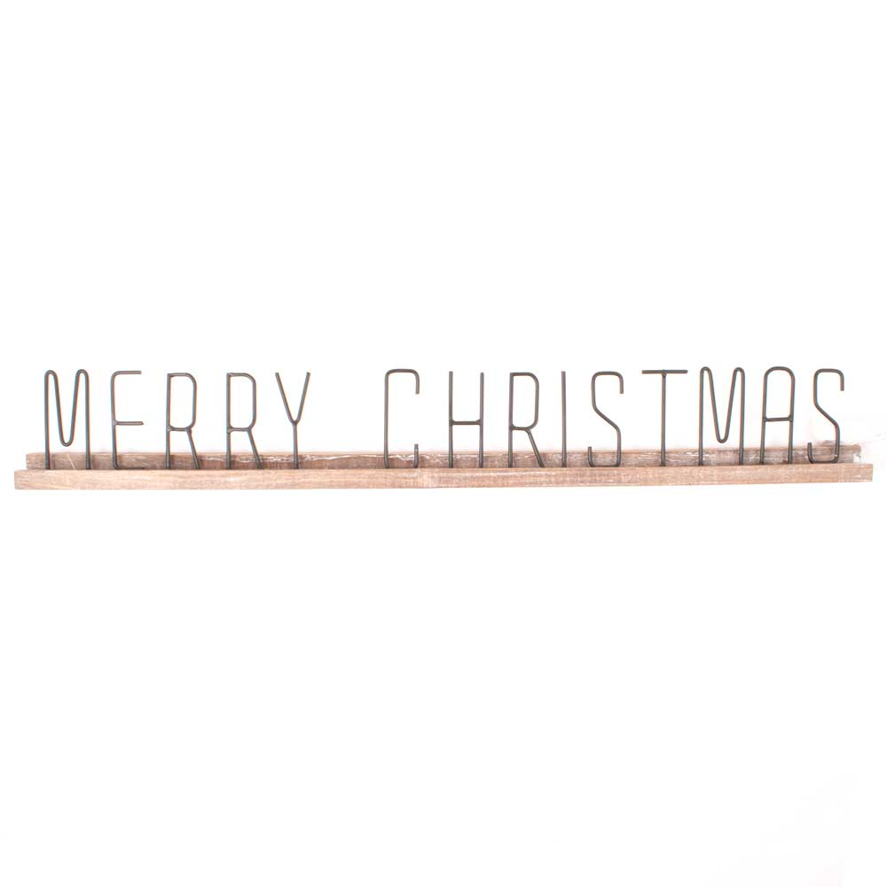 Merry Christmas Sign HOME & GIFTS - Home Decor - Seasonal Decor Creative Co-Op Teskeys