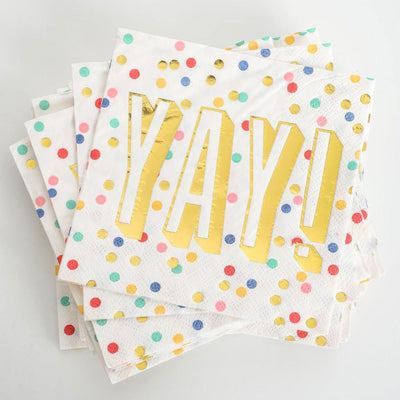 Yay! Beverage Napkins - 20ct. HOME & GIFTS - Tabletop + Kitchen CREATIVE BRANDS Teskeys