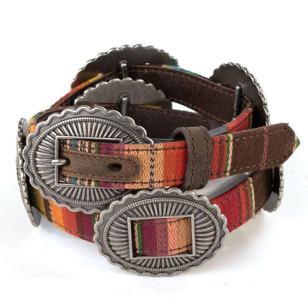 Ariat Serape Oval Concho Belt KIDS - Accessories - Belts M&F WESTERN PRODUCTS Teskeys