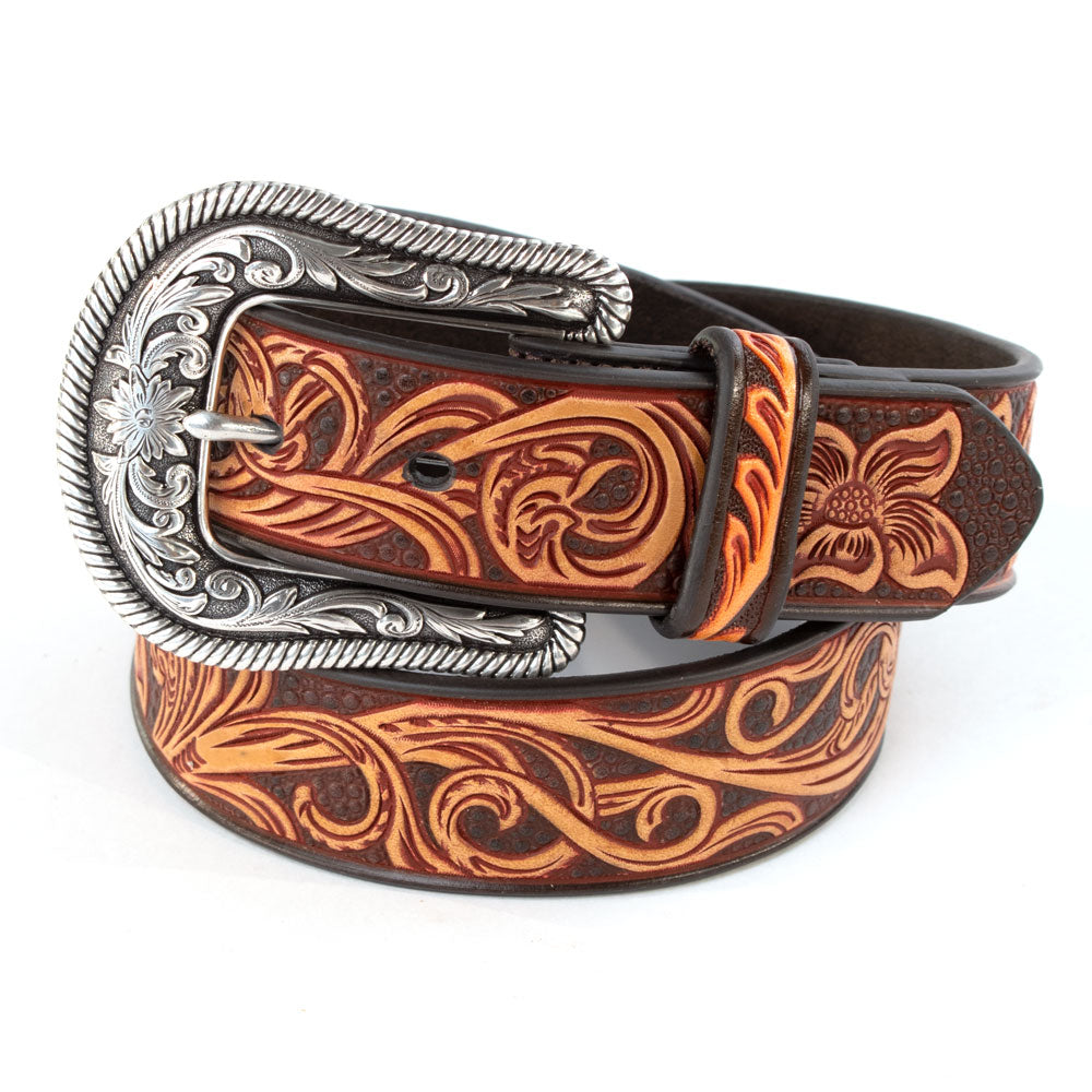 Ariat Fancy Floral Scroll Belt WOMEN - Accessories - Belts M&F WESTERN PRODUCTS Teskeys