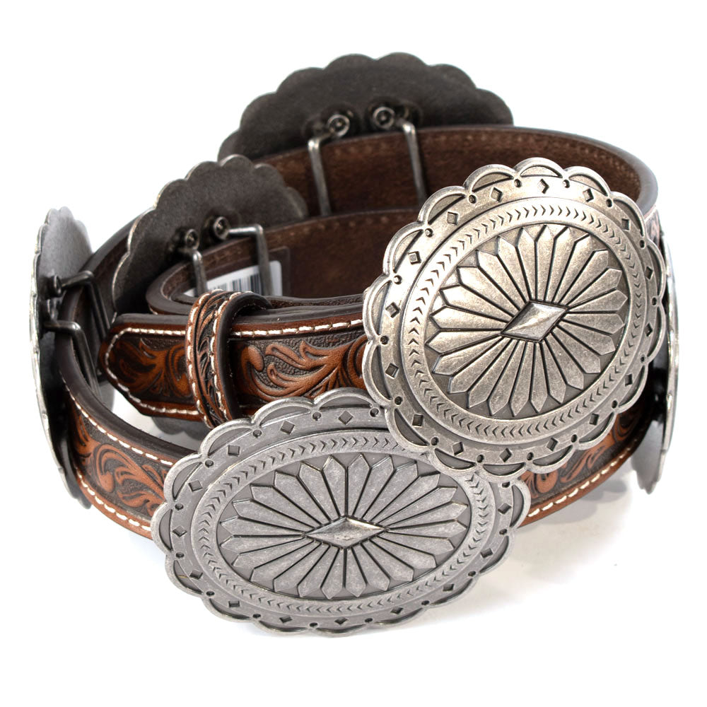Ariat Oval Flower Concho Belt WOMEN - Accessories - Belts M&F WESTERN PRODUCTS Teskeys