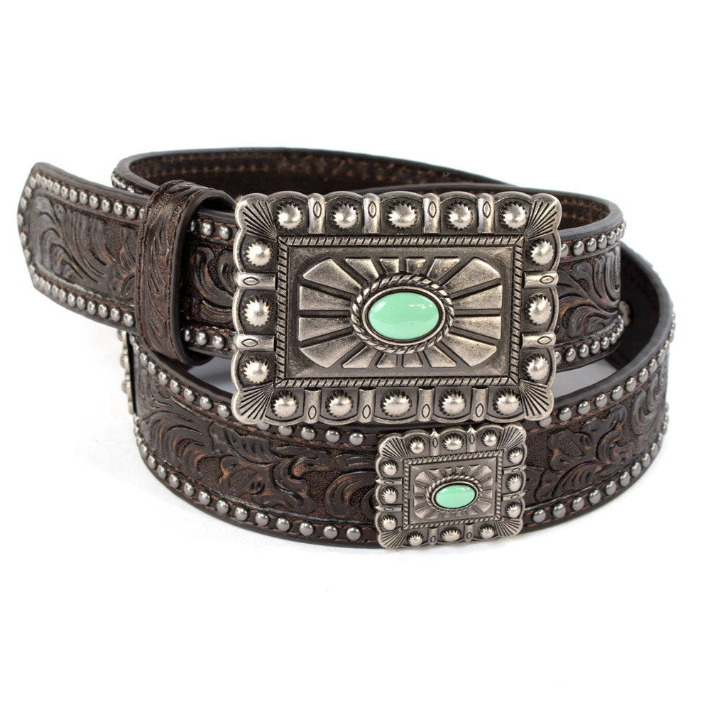 Ariat Square Concho Belt WOMEN - Accessories - Belts M&F WESTERN PRODUCTS Teskeys
