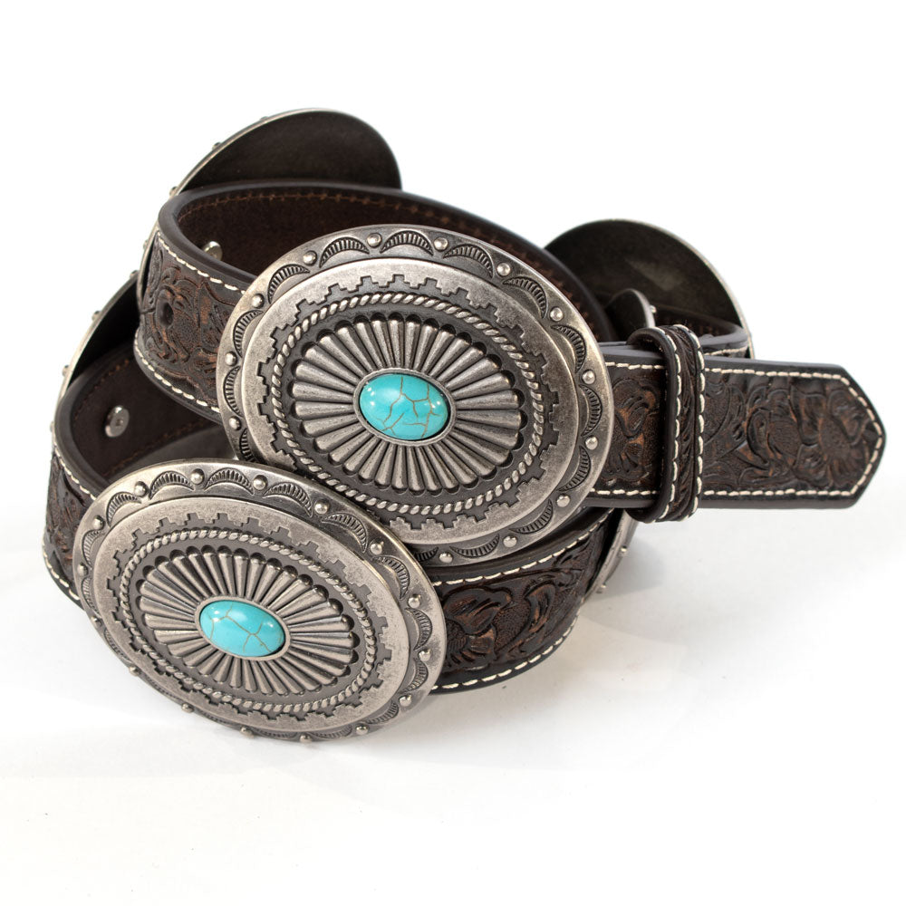 Ariat Oval Concho Belt WOMEN - Accessories - Belts M&F WESTERN PRODUCTS Teskeys