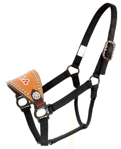 Trophy Bronc Halter with Crystal Conchos and dots