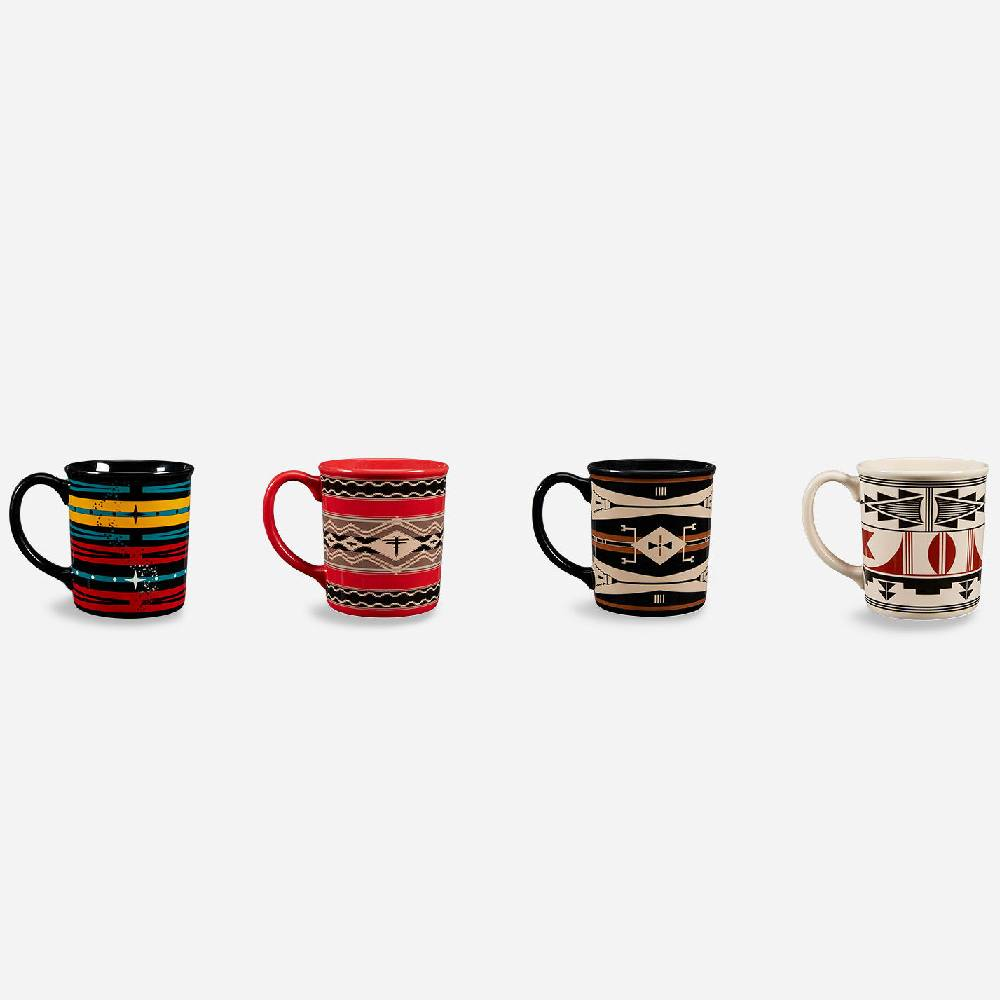 Pendleton American Indian College Fund Mugs - Set of 4 HOME & GIFTS - Tabletop + Kitchen - Drinkware + Glassware PENDLETON Teskeys