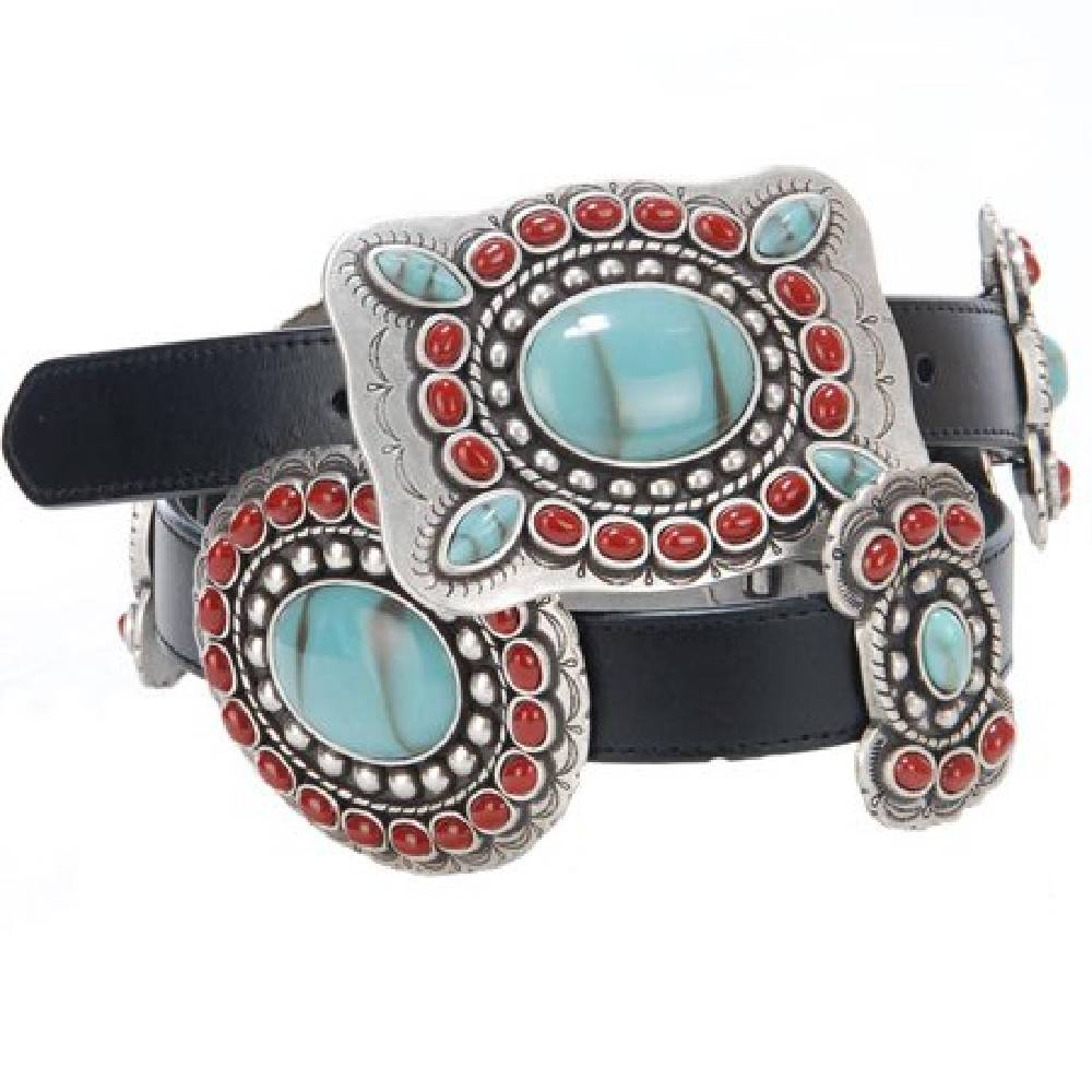 Angel Ranch Butterfly Oval Concho Belt WOMEN - Accessories - Belts M&F Western Products Teskeys