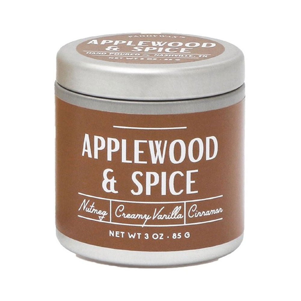 Applewood & Spice 3.0oz Farmhouse Candle Tin HOME & GIFTS - Home Decor - Candles + Diffusers Paddywax Teskeys