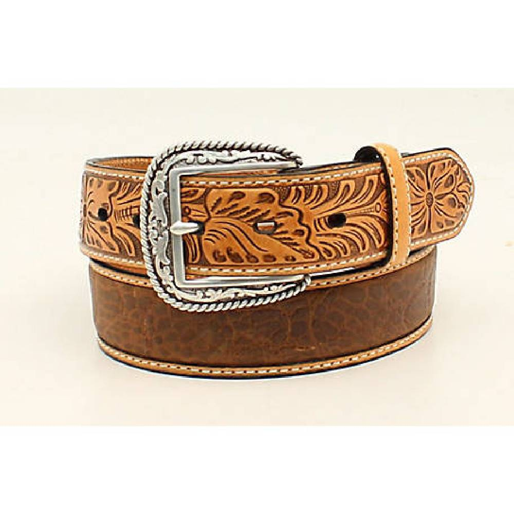 Ariat Croc Floral Belt MEN - Accessories - Belts & Suspenders M&F Western Products Teskeys