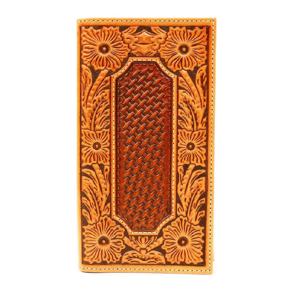 Ariat Floral Basket Weave Wallet MEN - Accessories - Wallets & Money Clips M&F Western Products Teskeys