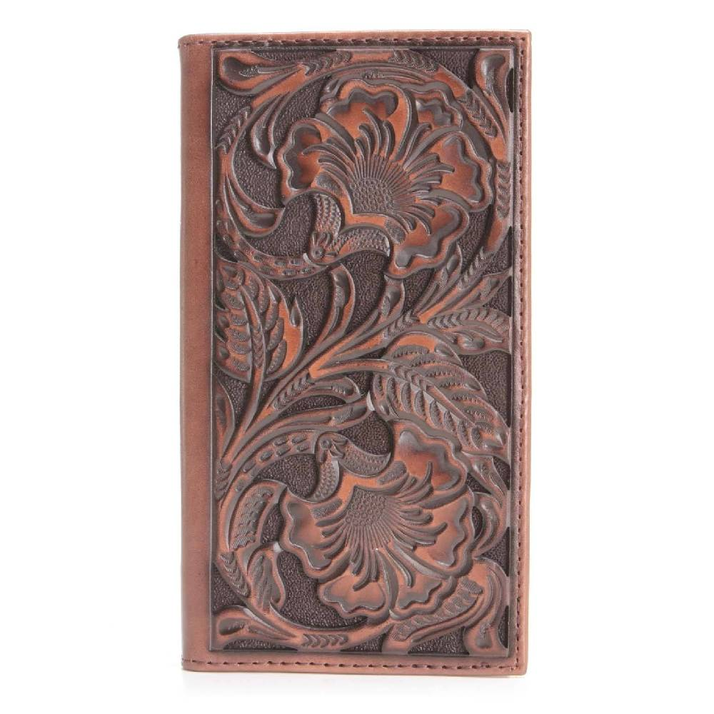 Ariat Floral Embossed Rodeo Wallet MEN - Accessories - Wallets & Money Clips M&F WESTERN PRODUCTS Teskeys