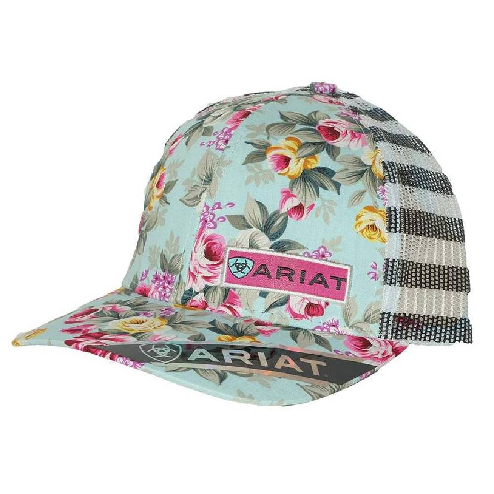 Ariat Floral and Striped Cap HATS - BASEBALL CAPS M&F WESTERN PRODUCTS Teskeys